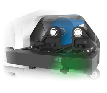 Flexonyomógépek, tekercsvágók, laminálók gyártása | Keine Zahnräder-Druckwerk einstellen mit Motorantrieb-Schwingungsdämpfung