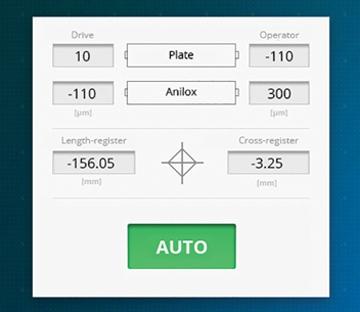 Flexonyomógépek, tekercsvágók, laminálók gyártása | Automatische Druckeinstellung
