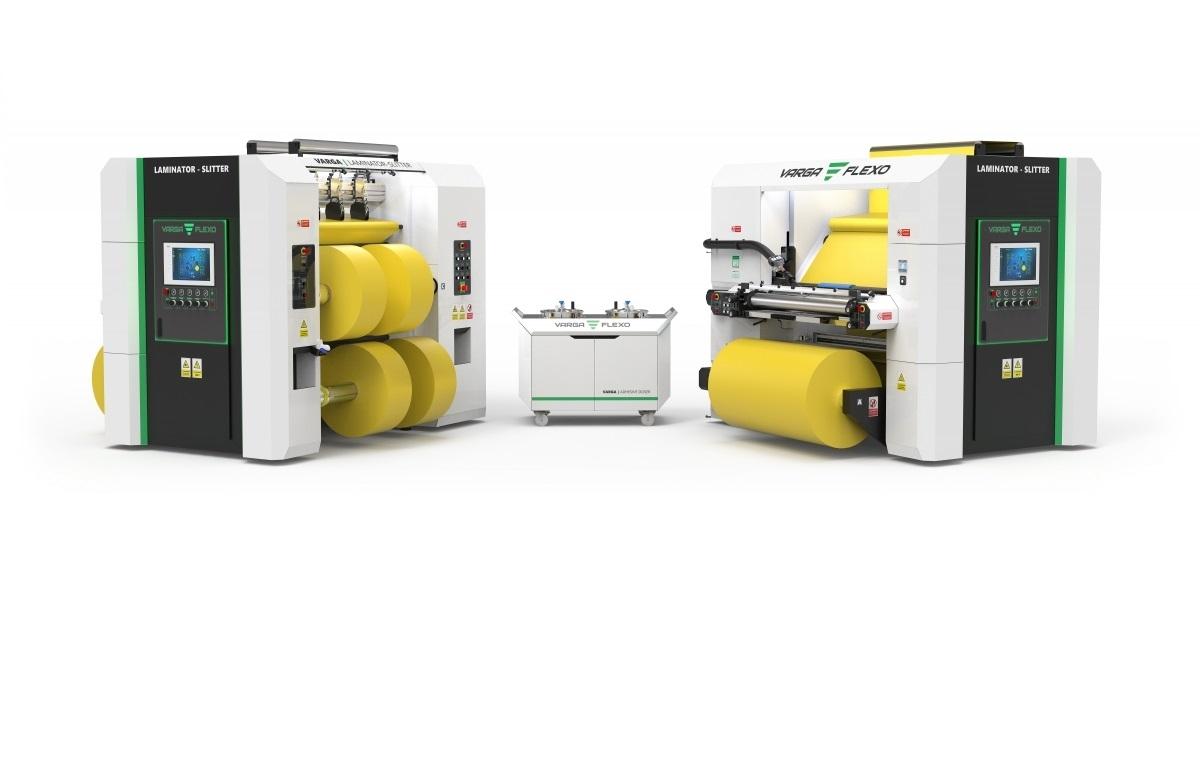 Flexonyomógépek, tekercsvágók, laminálók gyártása   Dwa maszyny w jednej cenie